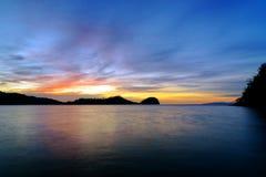 Togean wyspy przy zmierzchem Indonezja Zdjęcie Stock