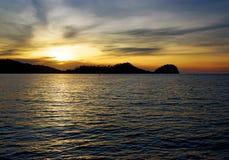 Togean wyspy przy zmierzchem Indonezja Zdjęcie Royalty Free