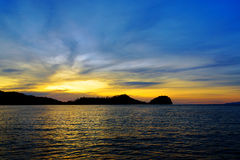 Togean wyspy przy zmierzchem Indonezja Obraz Royalty Free