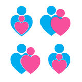 Togeetherness hearts symbol. Royalty Free Stock Photos