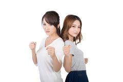 Togethe asiatique de combat de femme Photographie stock