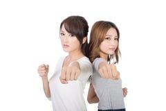 Togethe asiatique de combat de femme Images libres de droits