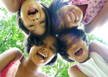 Together. Four girls having good time Stock Image