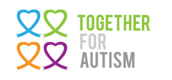 Together for autism vector Royalty Free Stock Photo