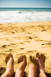 Together On The Beach Royalty Free Stock Photos