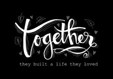 Together they built a life they loved. royalty free illustration
