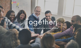 Together Community Family Friends Support Concept stock photos