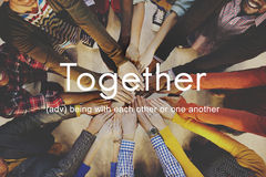 Together Community Family Friends Support Concept. People Together Community Family Friends Support stock photography