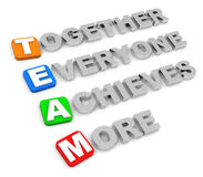 Together everyone achieves more Royalty Free Stock Photo