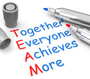 Together everyone achieves more Royalty Free Stock Photography