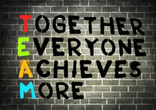 Together Everyone Achieves More. Graffiti concept Royalty Free Stock Photo