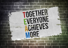 Together Everyone Achieves More. Poster concept stock image