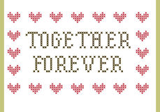 Together Forever embroidery Stock Image