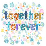 Together forever greeting card Stock Photo