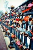 Together forever, love in Belarus Vitebsk. Colorful love locks, bridge, together forever in Belarus Vitebsk Royalty Free Stock Photos