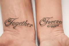 Together forever vintage tandem bicycle with hearts for Together forever tattoo