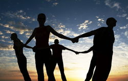 Together. Friends together royalty free stock photo