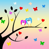 Together Heart Indicates Valentines Day And Forest Royalty Free Stock Photography