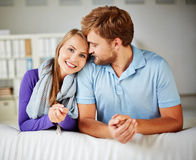 Together at home Stock Photos