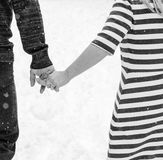Always together. Immensely in love, walking hand in hand stock photography