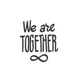 We are together, infinity symbol Stock Photography