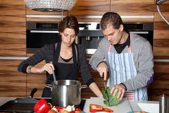 Together in the kitchen Royalty Free Stock Photos