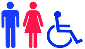 Universal toilet sign stock images
