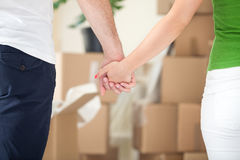 Together in new home Royalty Free Stock Photography