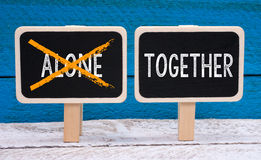 Together not alone Royalty Free Stock Image