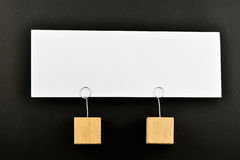 Together, One big paper note on black for presentation Royalty Free Stock Photo