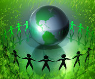 Together protect the world Stock Image