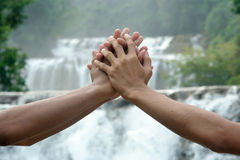 Together save the Earth. Royalty Free Stock Images