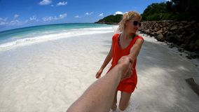 Together at Seychelles stock footage