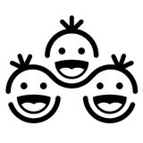 Together smiling children team symbol Stock Photo