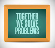 Together we solve problems message Stock Photos