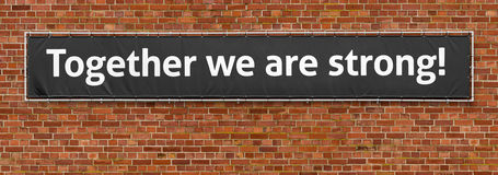 Together we are strong Royalty Free Stock Photography