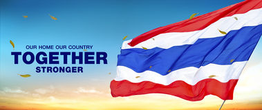 Together stronger of thailand. Our home our country together stronger of thailand Stock Images