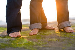Together at Sunset Royalty Free Stock Image