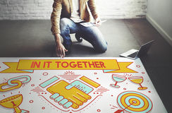 In It Together Team Corporate Connection Support Concept Royalty Free Stock Images