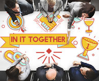 In It Together Team Corporate Connection Support Concept Stock Photos