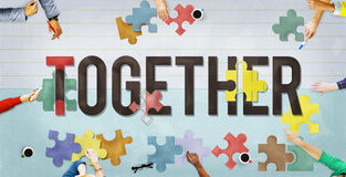 Together Togetherness Team Teamwork Connection Concept Royalty Free Stock Images