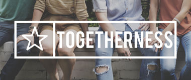 Together Togetherness Team Teamwork Connection Concept Royalty Free Stock Image