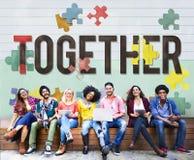 Together Togetherness Team Teamwork Connection Concept Stock Image