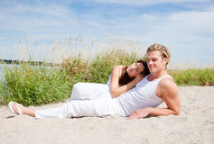Togetherness beach Royalty Free Stock Photos