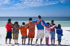 togetherness at the beach Royalty Free Stock Photo
