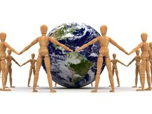 Togetherness (With clipping path). Togetherness (computer generated with clipping path Royalty Free Stock Photo