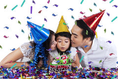Togetherness of family in birthday party Stock Photo