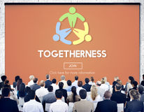 Togetherness Friendship Support Team Unity Concept Stock Image