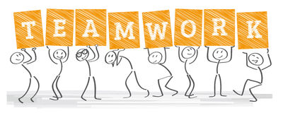 Togetherness - Teamwork. Togetherness - the team is strong Stock Photos
