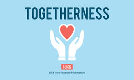 Togetherness Unity Design Icon Heart Concept. Love Heart Togetherness Unity Concept Stock Photo